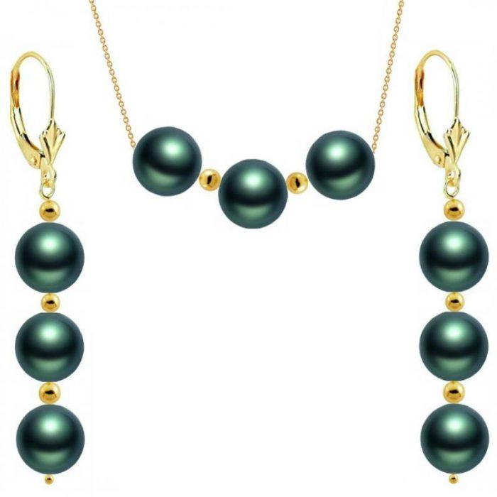 perle akoya verzi